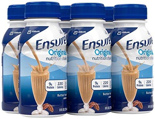 Ensure Nutrition Drink, Butter Pecan, 6 - 8 fl oz (237 ml) bottles [1.5 qt (1.42 l)]