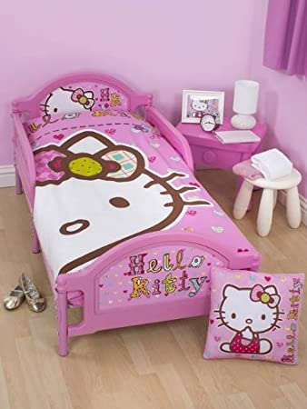 Hello Kitty Folk Junior Toddler Bed Deluxe Foam Mattress Amazoncouk Kitchen Home