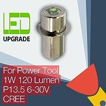 LED Conversion/upgrade Bulb Power Tool Torch/flashlight Bosch DeWalt Makita Hitachi Milwaukee Panasonic Ryobi Worx Black & Decker Snap-on 9.6 12 14.4 18 24v CREE