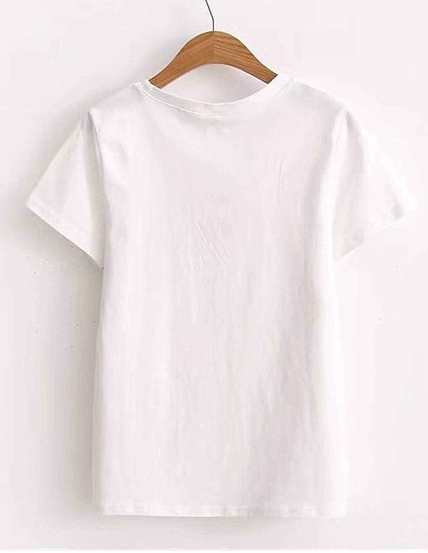Siennaa T-Shirt da Donna a Manica Corta Estive Maglietta Tinta Unita con Stampa Coniglio Casual Top Maglietta,Divertenti Magliette Donna Maniche Corte,Traspirante Confortevole T-Shirt
