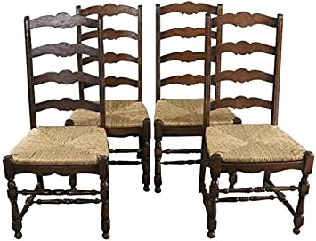 Amazon Com Eurolux Home Dining Chair French Country Turned Leg Oak Solid New Chairs