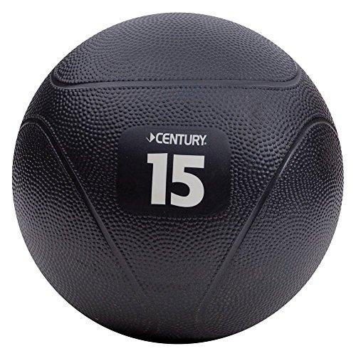 Century Vinyl Black Medicine Balls, 15 Pounce