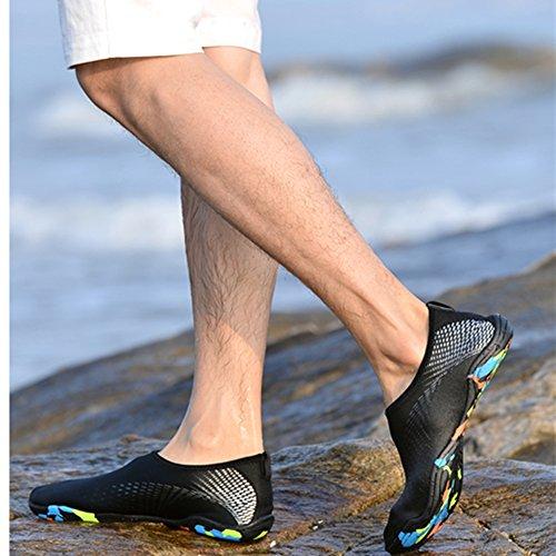 Spiaggia Sportive Donna Scarpe Uomo KuBua da Scarpette Swim B Nero Argento Ballo Mare da Yoga Scarpe Immersione Beach Nudi Calzini Piedi Bagno Aqua Surf qwXAqfvI