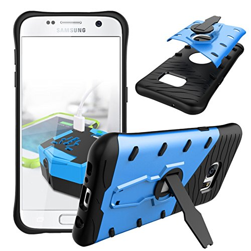 360 Degree Dual Pro Protective Case for Apple iPhone 6 Plus (Blue) - 6