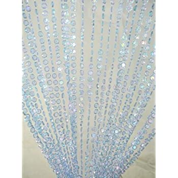 3 Ft X 6 Iridescent Faux Crystal Beaded Curtain