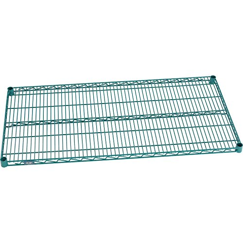 Nexel  Wire Shelf, Green Epoxy Finish, 18
