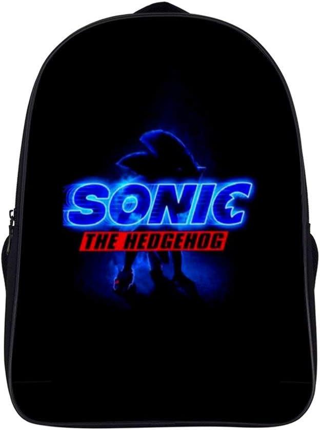 Sonic- Hedgehog 2020 Youth Backpack School Bookbag Unisex College Student Travel Laptop Backpack 16 Inch