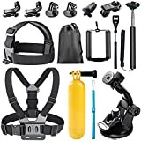 Bestter 14-in-1 Action Camera Accessory Kit for GoPro Hero 5 Session/Hero Session/Hero 6 5 4 SJ4000 SJ7000 DBPOWER AKASO VicTsing APEMAN WiMiUS Rollei QUMOX Lightdow Campark And Sony Sport DV and More