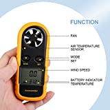 Freehawk Anemometer Handheld Digital LCD Wind Speed Meter Gauge Air Flow Velocity Thermometer with Backlight for Windsurfing, Sailing, Fishing, Kite Flying, Mountaineering