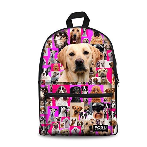 FOR U DESIGNS 15 inch Hiking Daypacks Labrador Casual Bags Women Travel -