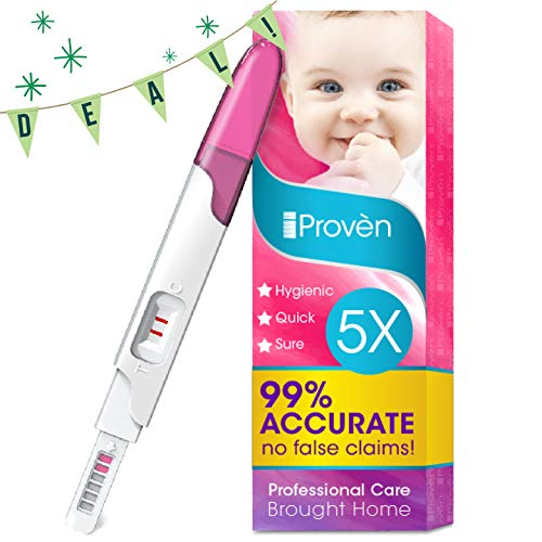 Pregnancy Test FMH-139 of iProven - Pregnant Test HCG Midstream 5 Test Strips - Test Pregnancy with Early Detection Test on Cycle Day One (Non Digital)