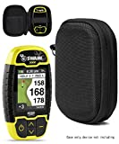 Protective Case for Golf GPS by CaseSack, Specially Designed for IZZO Swami 4000+ Golf GPS, and Swami 4000, Swami 5000 Golf GPS Rangefinder; Garmin Approach G30, G6, G7 (Black)