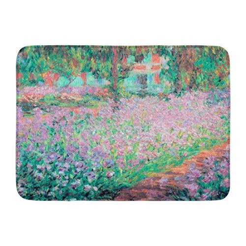 Irises Garden Monet - DEGTTF Custom Doormats Irises Monet Garden Home Door Mats 15.7