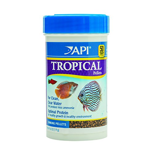 API TROPICAL PELLETS Sinking Pellets Fish Food 4.2-Ounce Container -