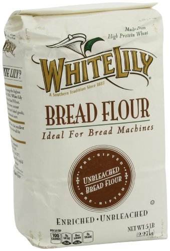 White Lily Unbleached Bread Flour, 5 Pound High Gluten Bread Flour