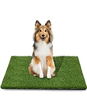 TAOAT 39.4 x 31.5 Inches Artificial Grass Rug for Dog Fake Grass Pee Pad for Pet Training Washable Grass Mat for Puppy Potty with Drainage Hole and Easy to Clean
