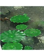 WERTAZ Plantas Artificiales 10 Piezas Decoración para acuarios Artículos para Fiestas Piscina Boda Jardín Hojas flotantes Falsas Estanque Follaje Grande Tanque de Agua para el hogar
