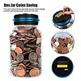 Onerbuy Digital Coin Bank Savings Jar Automatic Coin Counter Piggy Bank Large Capacity Money Saving Box with LCD Display, Transparent Clear