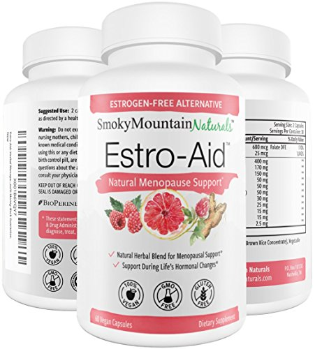 Estro-Aid Menopause Supplement for Relief, Support & Weight Loss. Natural Herbal Complex- Black Cohosh & Dong Quai for Hot Flashes, Mood Swings. Estrogen Free, Non-GMO & Vegan Supplements for Women.