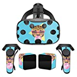 MightySkins Skin for HTC Vive Full Coverage - Bubble Gum Cheetah | Protective, Durable, and Unique Vinyl Decal wrap Cover | Easy to Apply, Remove, and Change Styles | Made in The USA