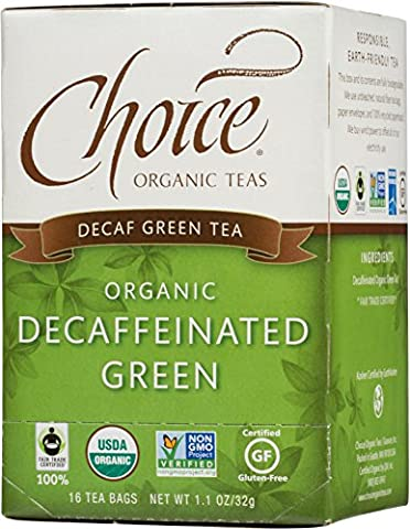 Choice ORGANIC TEAS Decaffeinated Green, 1.15-Pound (Pack of 6)