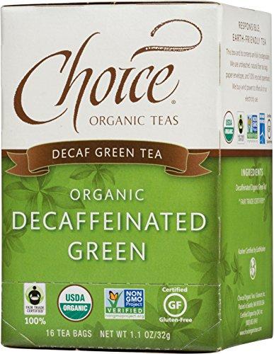 (Choice Organic Teas Green Tea, Decaffeinated Green, 16 Count, Pack of 6)