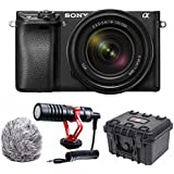 Sony a6300 Mirrorless Camera with 18-135mm Lens Compact Mic Bundle (Black)
