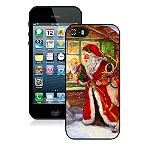 Customized Design Iphone 5S Protective Case Merry Christmas iPhone 5 5S TPU Case 59 Black