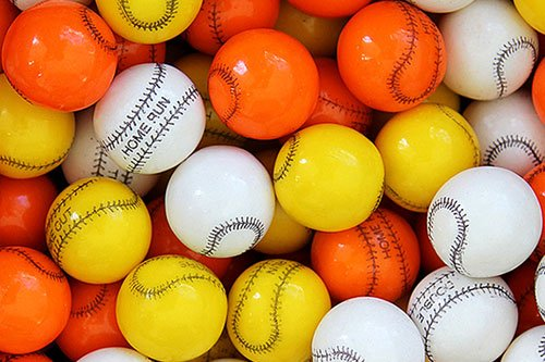 Gumballs By The Pound - 5 Pound Bag of Baseball]()