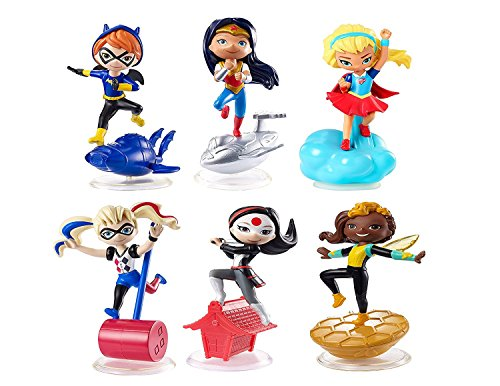 DC Super Hero Girls Mini Figure Ultimate Collection -- 6 Figure Set Featuring Wonder Woman, Supergirl, Harley Quinn, Batgirl, Katana and Bumblebee]()