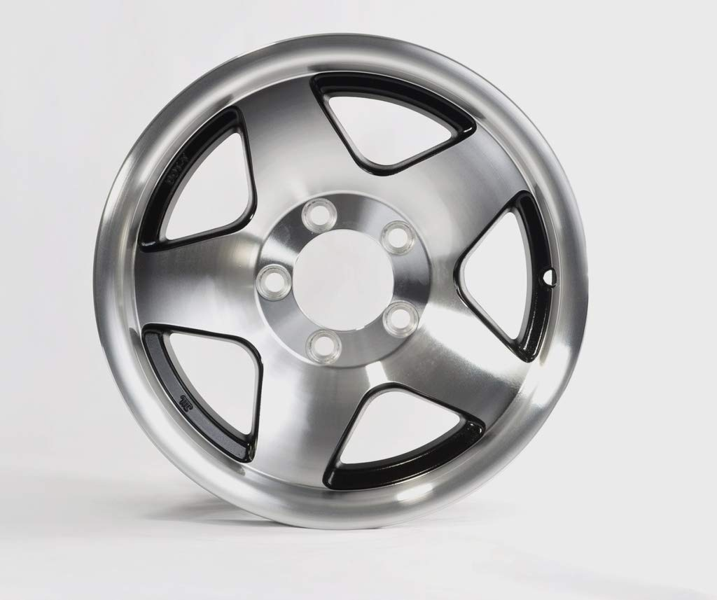 eCustomRim Trailer Rim 14X6 5-4.5 5 Lug On 4.5 in. Aluminum Black Star Load C