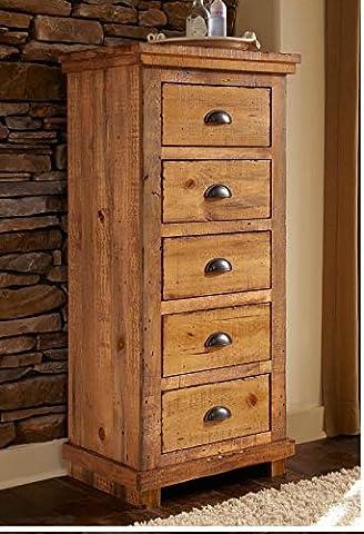5-Drawer Lingerie Chest - Pine 5 Drawer Dresser