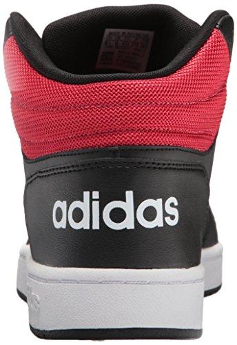 Adidas Vs Cerceaux Mi 2,0 Noyau Noir / Blanc / Rouge Écarlate
