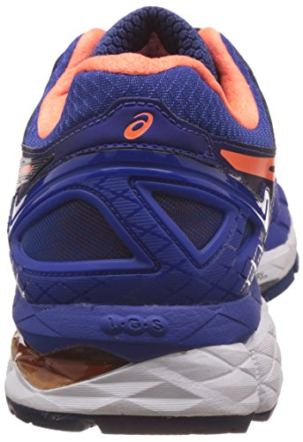 Asics Mens Gel-Kayano 22 Blue, Hot Orange and Indigo Blue Running Shoes - 6 UK/India (40 EU) (7 US)