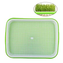 OUNONA Seed Sprouter Tray Germination Trays Seedling Starter Trays Plant Grower Tray Healthy Wheat grass Grower