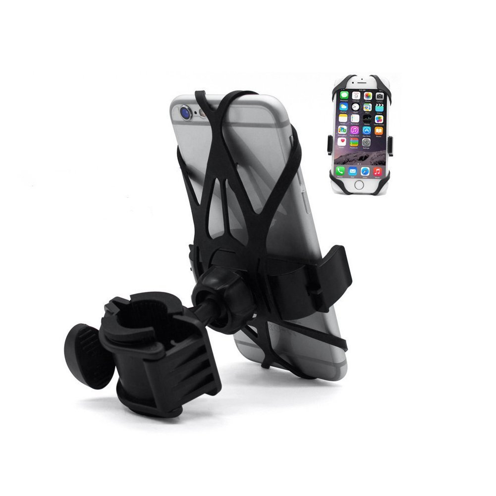 Black Lifewell Bike Phone Mount Universal Motorcycle Cell Phone Holder Cradle Clamp with 360 Degree Rotation Adjustable Bicycle Rack Handlebar,Fits iPhone X,8,7,7 Plus Galaxy S8 Plus and Most Smartphones