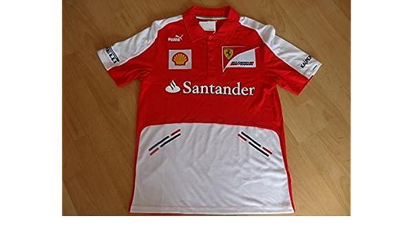 Ferrari Puma F1 Polo Camiseta Rojo Vettel tamaño L: Amazon.es ...