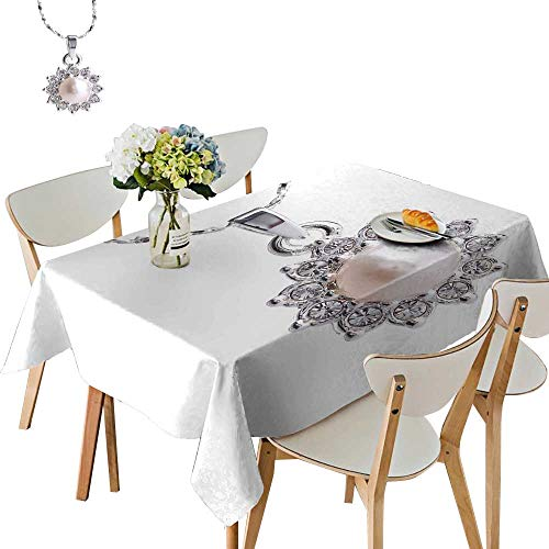 UHOO2018 Polyester Fabric Tablecloth Square/Rectangle Pearl Pend t Summer & Outdoor Picnics,50 x104inch (Outdoor Pend)