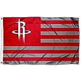 WinCraft Houston Rockets Americana Stripes Nation 3×5 Flag