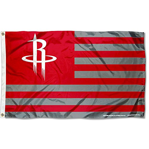WinCraft Houston Rockets Americana Stripes Nation 3×5 Flag