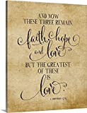 Amy Cummings Gallery-Wrapped Canvas entitled Faith Hope And Love Vintage