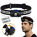 Olight ® H05S ACTVIE 200 Lumens CREE XM-L2 LED Headlamp w/ Red Light ( Motion Control version) with 2x Lithium Iron AAA Batteries LED Torch for Camping Hiking ,Black