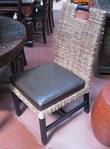 Strange Amazon Com Wicker Dining Chair With Leather Chairs Gmtry Best Dining Table And Chair Ideas Images Gmtryco