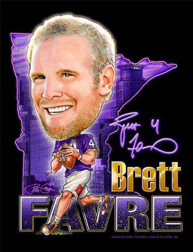 Brett Favre - Officially Licensed NFL Players Art Print