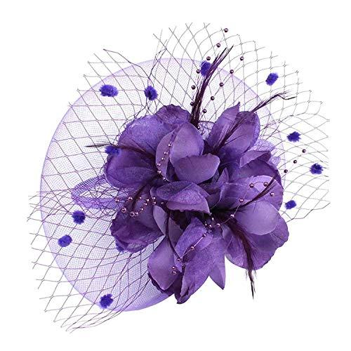 VACIGODEN Charming Big Flower Headband Netting Mesh Hair