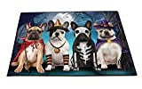 Happy Halloween Trick or Treat French Bulldog Indoor/Outdoor Floormat (24x36)