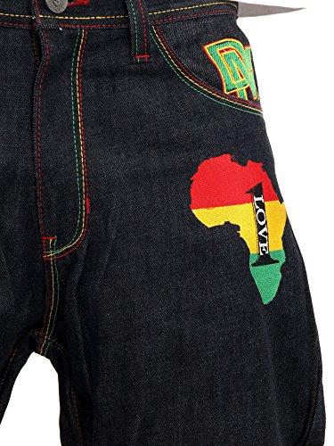 Dirty Money One Love Rasta Jeans DM # 00656 by Dirty Money (Image #7)