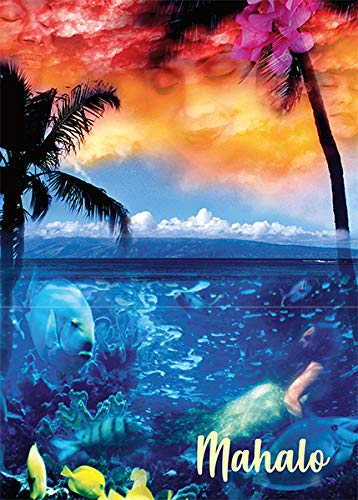 Pacifica Island Art Greeting Cards Set (12) Hawaiian Dream by C.Quan - Thank You
