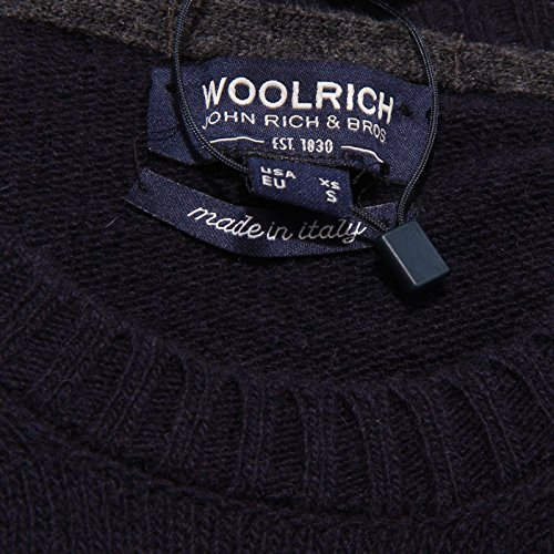 Wool Maglione 6030w Woolrich Blu Blue Uomo Men Sweater HTXgB