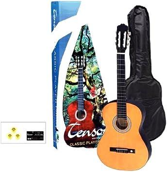 Tenson F502110 - Pack guitarra clásica 4/4, color miel: Amazon.es: Instrumentos musicales